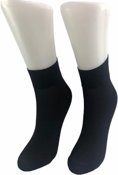 Vog 3'lü Orta Kalın Micro Fiber Siyah Soket Çorap