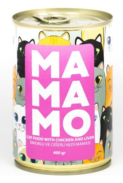 Mamamo Tavuklu Ciğerli Kedi Maması 400 gr x 12 Adet