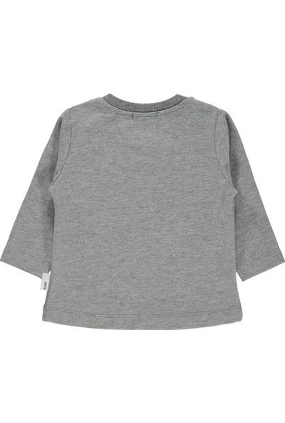 Tuffy Kız Bebek Sweatshirt 6-24 Ay Gri