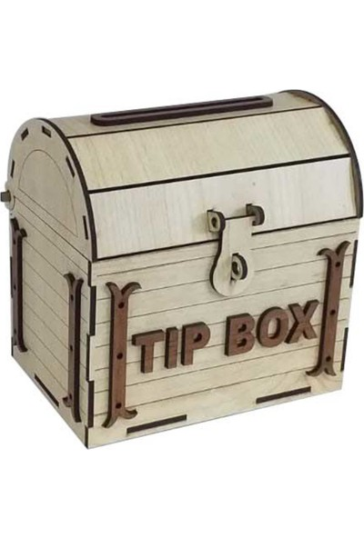 Ayt Reklam Atölyesi Dekoratif Ahşap Tip Box Hazine Sandığı