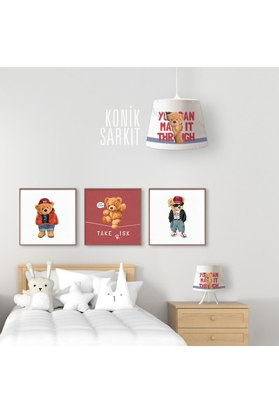 Popcorn Kids Teddy Bear Konik Sarkıt Aydınlatma (Large)