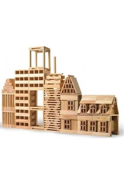 Hobi Eğitim Dünyası Ahşap Yapı Blokları Wood City Blocks 200 Parça