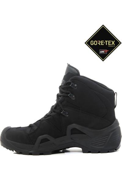 Yds Astor Mıd Cut Gtx -Siyah (Goretex Su Geçirmez Hakiki Ciltli Nubuk Deri Yarım Boy Taktik Bot)