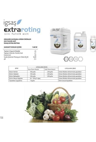 Igsaş Extra Roting Tahıl Sebze Meyve Baklagil Suda Çözünür Organik Kaynaklı Sıvı Hümik Fulvik Asit Gübre 1 kg
