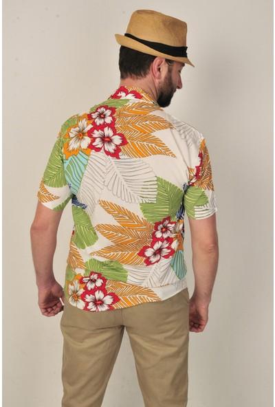 Marrakech Havai Model Kısa Kollu Fashion Erkek Gömlek
