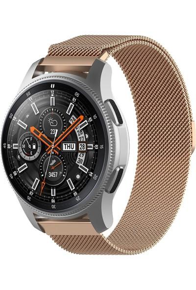 Bipower Huawei Watch 22MM Krd1 Metal Hasır Kordon Retro Gold