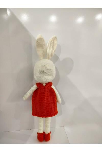 Sonik Doğal El Örgüsü (Amigurumi) Kız Tavşan