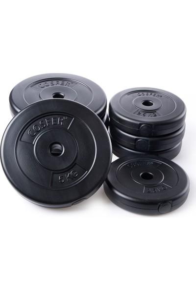 Cosfer 35 kg Vinyl Halter ve Dambıl Seti