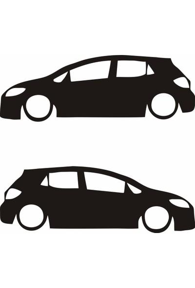 smoke Toyota Auris Silhuette Sticker