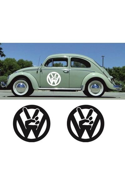 smoke Vw Logo Sticker Set
