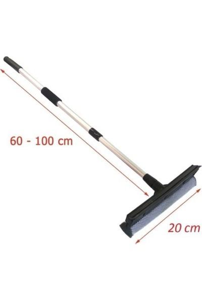 Pazariz Teleskopik Sap Çekçekli Cam Silme Aparatı Tablet Mop