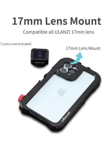 Ulanzi Apple iPhone 11 Pro Max Metal Vlog Çerçeve Siyah