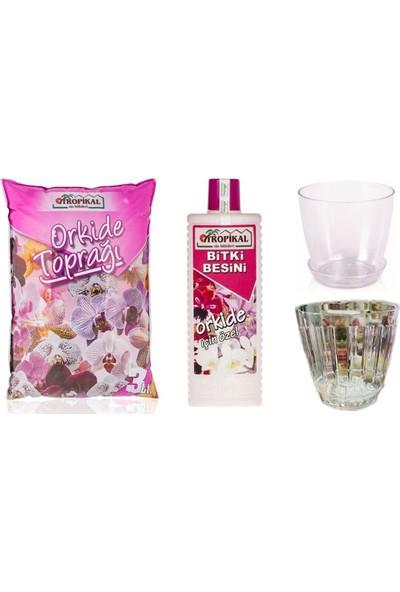 Gül Çiçek Sarayı Hava Delikli Orkide Saksı, Orkide Vitamin, Orkide Toprağı, Orkide Besini