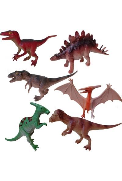 Yeşil Oyuncak 6 Parça 14 cm Dinazor Hayvanları Seti