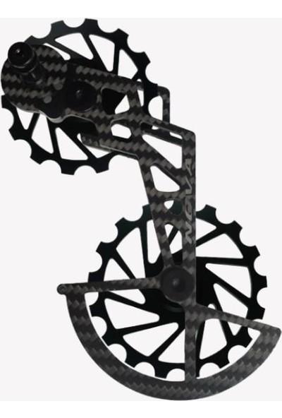 Nova Ride Ospw 3D Karbon Seramik Arka Vites Kafesi Shimano Dura Ace/ultegra Black
