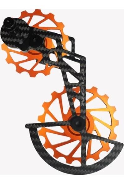 Nova Ride Ospw 3D Karbon Seramik Arka Vites Kafesi Shimano Dura Ace/ultegra Orange