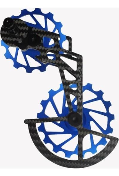Nova Ride Ospw 3D Karbon Seramik Arka Vites Kafesi Shimano Dura Ace/ultegra Blue