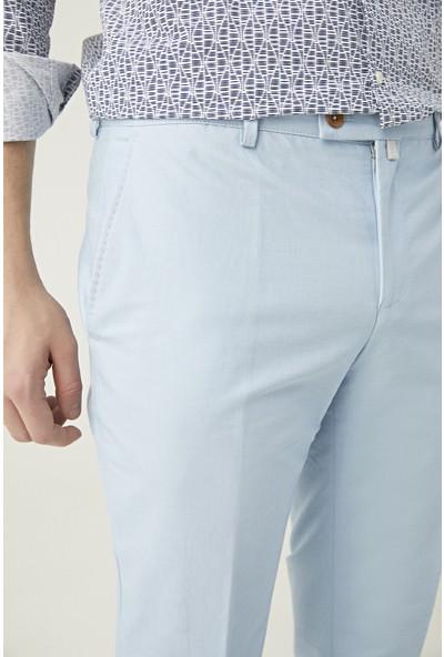 Twn Slim Fit Mavi Düz Kumaş Pantolon
