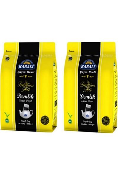 Karali Çay Karali Premium Demlik Poşet Çay 40 'lı x 24 gr . 2 'li