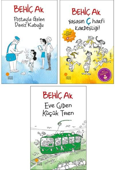 Behiç Ak Çocuk Romanları 3 Kitap Set - Postayla Gelen Deniz Kabuğu - Yaşasın Ç Harfi Kardeşliği - Eve Giden Küçük Tren