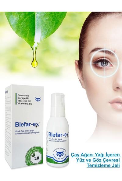 Blefar-ex Çay Ağacı Yağı Içeren Göz Çevresi ve Yüz Temizleme Jeli 100 ml