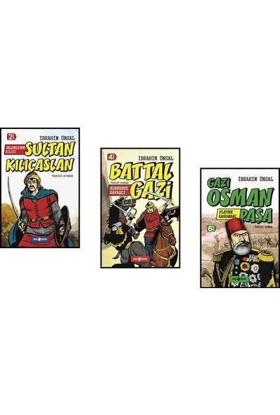 Kahramanlarımız Gazi Osman Paşa, Battal Gazi ve Sultan Kılıçaslan 3 Kitap Set