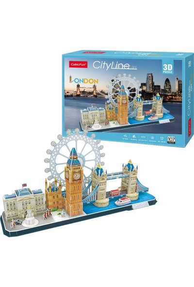 Cubic Fun 3d- 3 Boyutlu Puzzle City Line London - Ingiltere