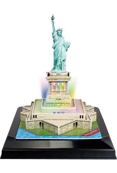 Cubic Fun 3d- 3 Boyutlu Puzzle Özgürlük Anıtı - Abd (Led Işıklı)