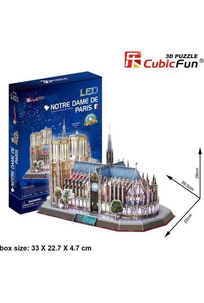 Cubic Fun 3d- 3 Boyutlu Puzzle Notre Dame Kilisesi - Fransa (Led Işıklı)