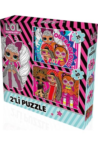 Yappuzz Puzzle L.o.l Surprise Art Lisanslı 35+60 Parça Çocuk Puzzle