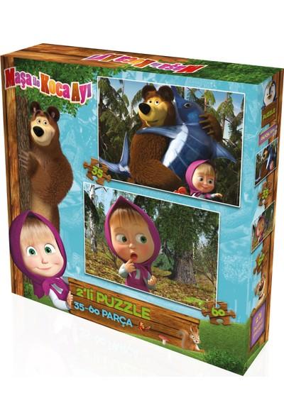 Yappuzz Puzzle Masha ve Koca Ayı Art Lisanslı 35+60 Parça Çocuk Puzzle