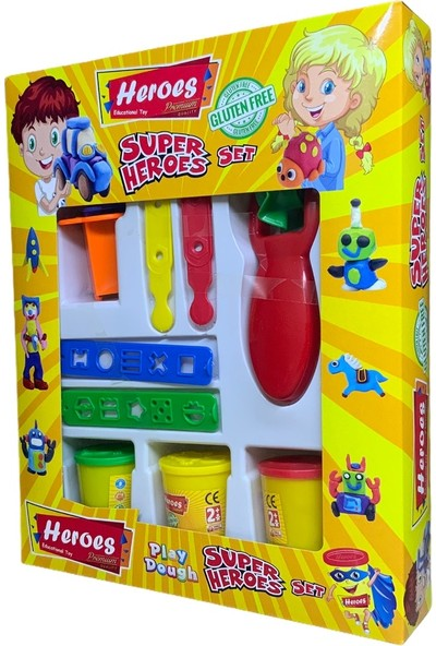 Heroes Süper Heroes Glutensiz Oyun Hamuru Seti