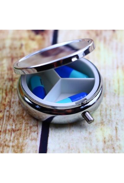 Şifa-Inur Nostaljik Gümüş Metal Ilaç Kutusu Hap Saklama Kabı Çok Amaçlı Organizatör
