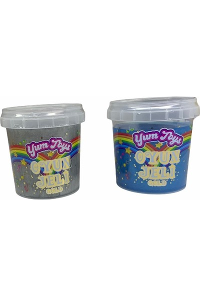 Yum Toys Oyun Jeli Gold - Slime - 135 gr x 2'li Paket - Mavi, Gri