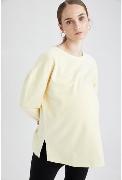 Defacto Hamile Basic Sweatshirt