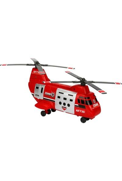 Maxx Wheels Kargo Helikopteri - Kırmızı
