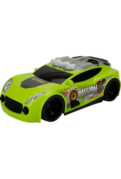 Maxx Wheels Sesli ve Işıklı Jet Araba - Yeşil