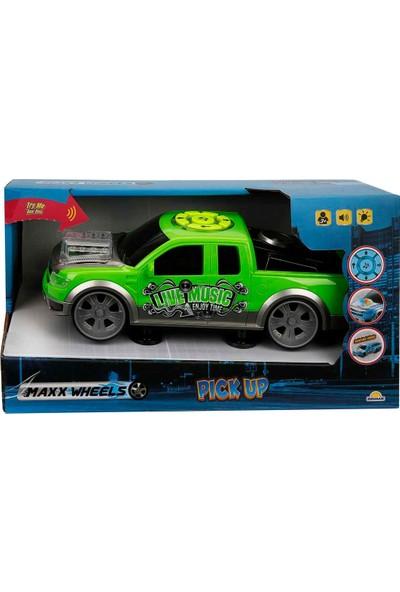 Maxx Wheels Sesli ve Işıklı Pick Up Araba - Yeşil