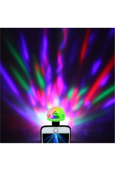 MI7A Oto LED USB Disko Topu Müziğe Duyarlı Mini Disko Topu