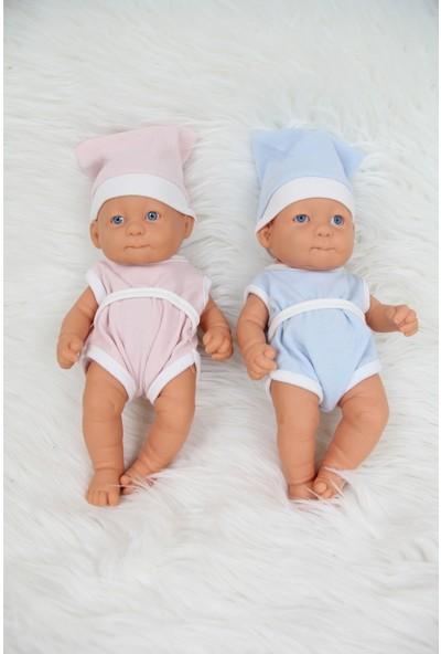 PumpkinKidsWear Yeni Doğan Et Bebek 25 cm ( Mavi )