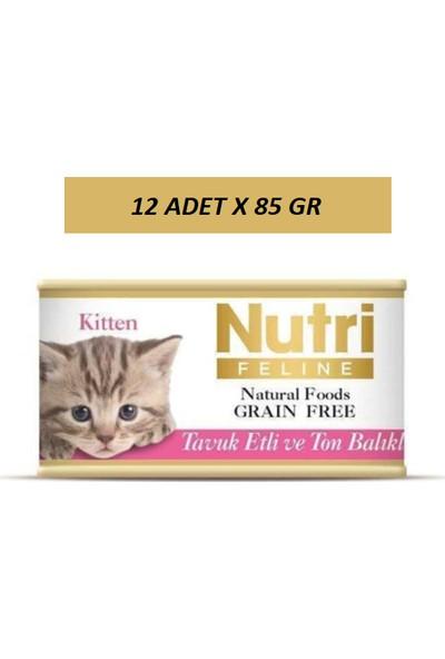 Nutri Tavuk Etli Ton Balıklı Yavru Kedi Konservesi 85 gr 12 Adet