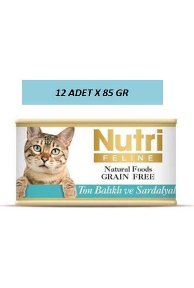 Nutri Ton Balıklı ve Sardalyalı Kedi Konservesi 85 gr 12 Adet