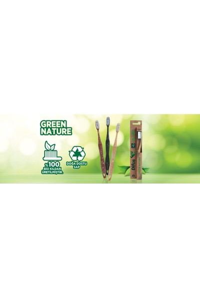 Difaş Green Nature Diş Fırçası 3 Adet Soft