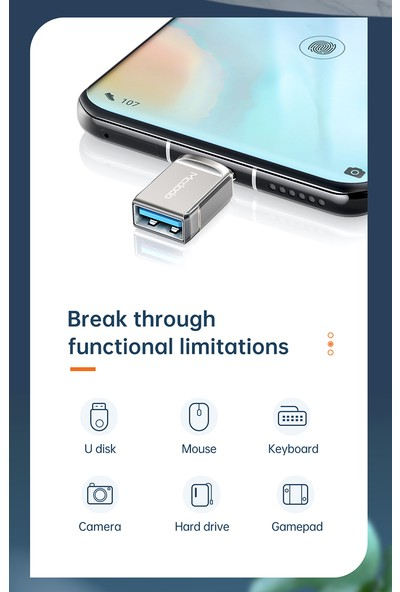 Mcdodo OT-8730 Type C To USB 3.0 Otg Çevirici Adaptör