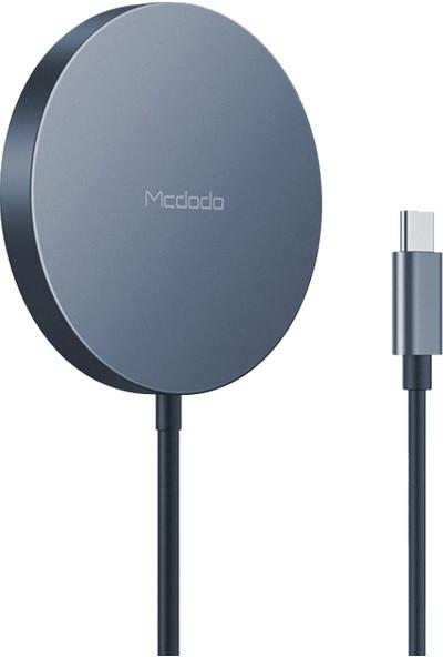 Mcdodo CH-8720 15W Magsafe Manyetik Kablosuz Şarj Cihazı Siyah