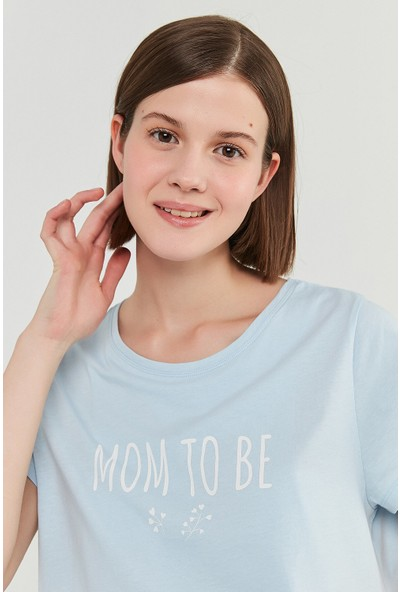 Penti Açık Mavi Mama To Be Tişört