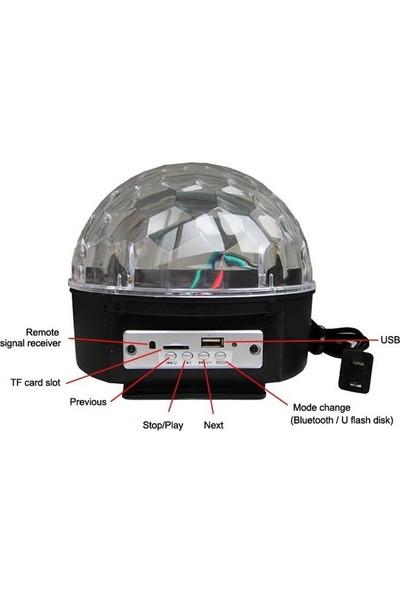 Deilmi Küre Model Disko Topu Kumandalı LED Usb/bluetooth Hoparlör