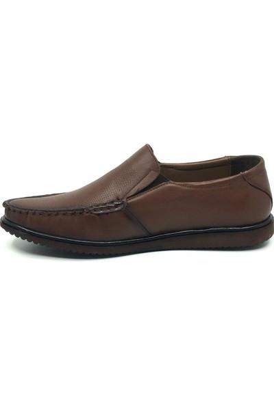 Üçlü Hakiki Deri Yazlık Tam Rok Rahat Erkek Ayakkabı 40-46