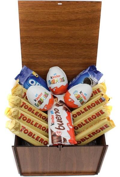 Nostaljik Lezzetler Ahşap Çikolata Kutusu