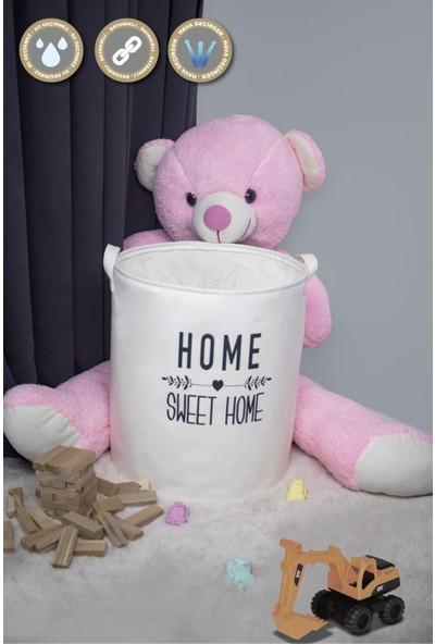 Rope Home Home Sweet Home Baskılı Sepet 37X42